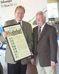 Übergabe goldenden Meisterbrief 2008